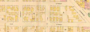 1887 map of oak st