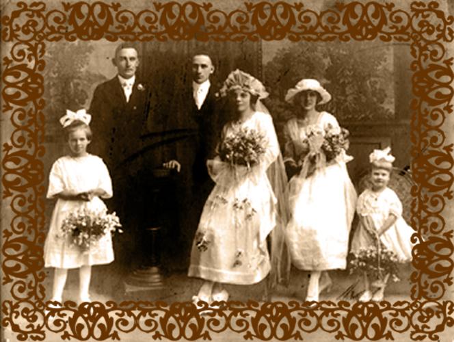 Ray and Minnie King wedding 1920