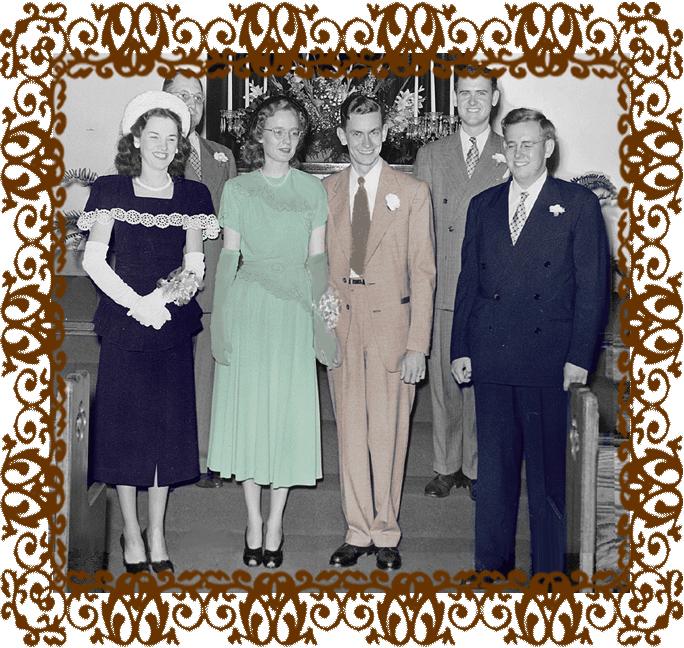 Wedding of Betty and Bob LaFara 1948