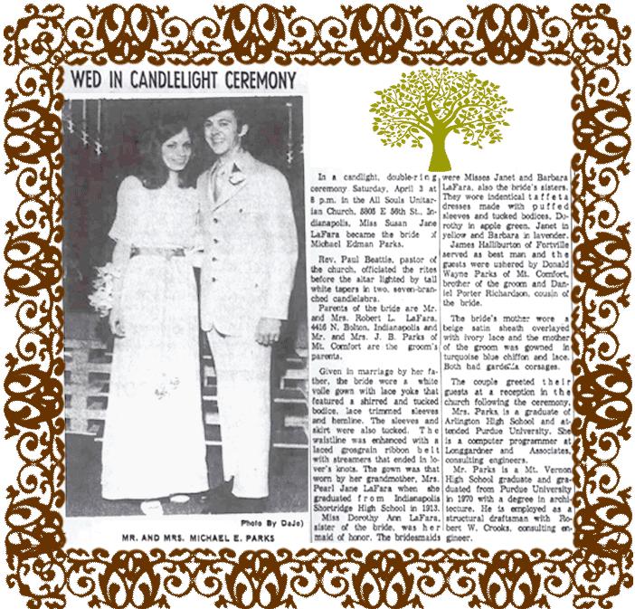 Wedding Announcement for Susan LaFara