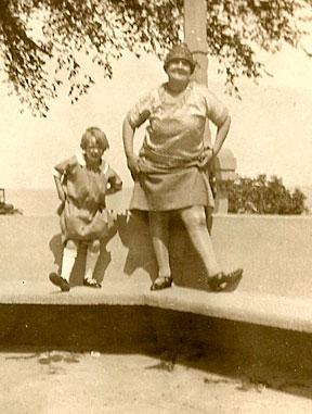 Grace Flucawa and MaryAnn Buskell, 1927